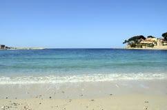 Renecros beach in Bandol, France. Renecros beach on mediterranean sea, french riviera in Bandol, France Stock Image