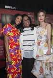 Renee Elise Goldsberry, Oprah Winfrey, en Rose Byrne royalty-vrije stock afbeeldingen
