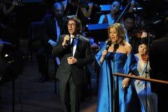 Renee Fleming and Josh Groban at Avery Fisher Hall Stock Photo