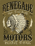 Renegade Motors Vintage Design for Apparel Royalty Free Stock Images
