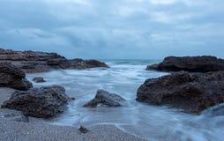 Renegaen i Oropesa Del Mar, Castellon Arkivfoton