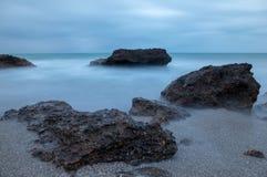 Renegaen i Oropesa Del Mar, Castellon Arkivfoto