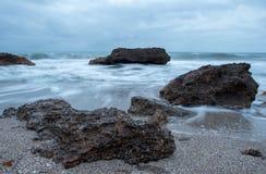 Renegaen i Oropesa Del Mar, Castellon Arkivbild
