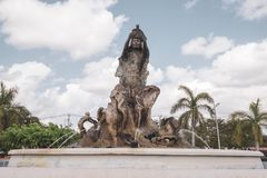 Renesans: symbol siła w Chetumal zabytek tworzył jako uznanie Chetumaleños, po huraganu zdjęcia royalty free