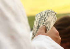Renesans uprawia hazard karty zdjęcia stock