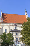 Renesansowy Farny kościół St John i St Bartholomew baptysta, Kazimierz Dolny, Polska zdjęcia royalty free