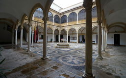 Renesansowy podwórze Santiago szpital zdjęcia stock