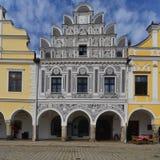 Renesansu dom w Telc, republika czech Zdjęcie Stock