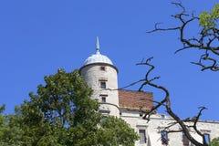 Renesansu kasztel, obrończy budynek, rujnuje, na słonecznym dniu, Lublin Voivodeship, Janowiec, Polska Obrazy Royalty Free