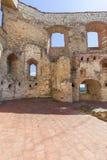 Renesansu kasztel, obrończy budynek, rujnuje, na słonecznym dniu, Lublin Voivodeship, Janowiec, Polska Zdjęcie Stock