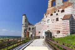 Renesansu kasztel, obrończy budynek, rujnuje, na słonecznym dniu, Lublin Voivodeship, Janowiec, Polska Obraz Royalty Free