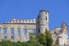 Renesansu kasztel, obrończy budynek, rujnuje, na słonecznym dniu, Lublin Voivodeship, Janowiec, Polska Fotografia Stock