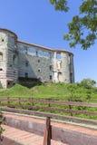 Renesansu kasztel, obrończy budynek, rujnuje, na słonecznym dniu, Lublin Voivodeship, Janowiec, Polska Obrazy Stock