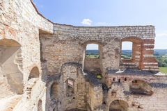 Renesansu kasztel, obrończy budynek, ruiny, Lublin Voivodeship, Janowiec, Polska Obraz Royalty Free