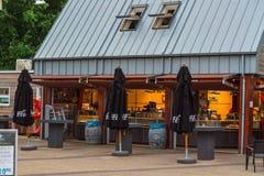 Renesse centrum miasta przegapia restaurację Zdjęcie Stock