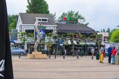Renesse centrum miasta przegapia restaurację Fotografia Stock
