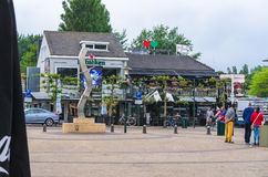 Renesse city center overlooking a restaurant. royalty free stock photos