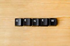 Free Renew Word Stock Photography - 98440522