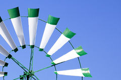Renewable. Close view of an old windmill as a concept of renewable energies Royalty Free Stock Photos