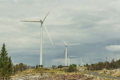 Renewable Energy Wind Power Windmill Turbines stock images