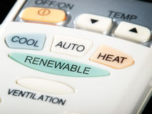 Renewable button Royalty Free Stock Image