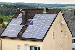 Renewable clean green energy saving efficient solar panels on  s Royalty Free Stock Photos