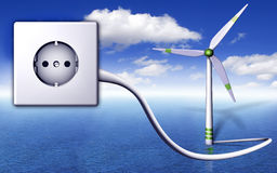 Renewable. 3D illustration about green energy Stock Photography