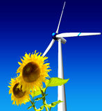 Renewable. 3D illustration about green energy Royalty Free Stock Image