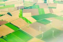 Renewable electric energy windmills Royalty Free Stock Images