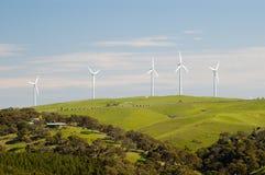 Renewable Energy. Wind turbines on Starfish Hill, South Australia Royalty Free Stock Photography