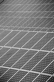 Renewable Energy. Solar power station, black and white Stock Image