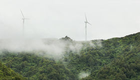 Renewable Energy. Power turbine surround by mist Royalty Free Stock Photography