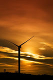 Renewable energy. Solar and eolic renewable energy royalty free stock photos