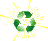 Renewable Energy. Sun encased in a recycle symbol Stock Images