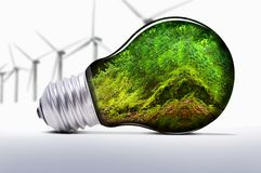 Renewable energy. For the protection of planet earth royalty free stock photos