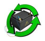 Renewable energy accumulator battery Royalty Free Stock Photos
