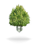 Renewable energy bulb. Isolated white background and shadow Royalty Free Stock Photo