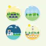 Renewable energy circle icon Royalty Free Stock Photography