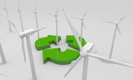 Renewable energy concept Royalty Free Stock Image