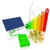 Renewable energy concept Royalty Free Stock Photos