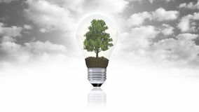 Renewable energy concept, green energy symbol Royalty Free Stock Photos