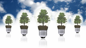 Renewable energy concept, green energy symbol Royalty Free Stock Images