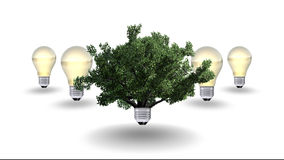 Renewable energy concept, green energy symbol Stock Image