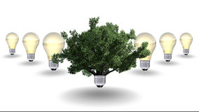 Renewable energy concept, green energy symbol Royalty Free Stock Photos