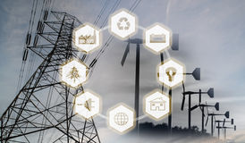 Renewable energy concept image Stock Photo