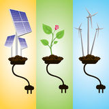 Renewable energy concept Royalty Free Stock Photo