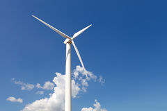 Renewable energy concept - wind generator turbines Stock Photos