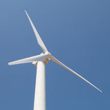 Renewable energy concept - wind generator turbines Royalty Free Stock Images