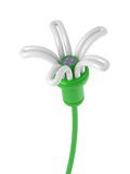 Renewable energy - flower lamp Stock Image