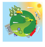 Renewable energy. Education infographic. Vector design. Stock Photos
